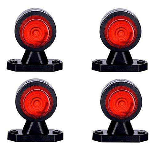 4x bianco + rosso luce di indicatore laterale 12V 24V e-contrassegnato doppia funzione universale lampadina