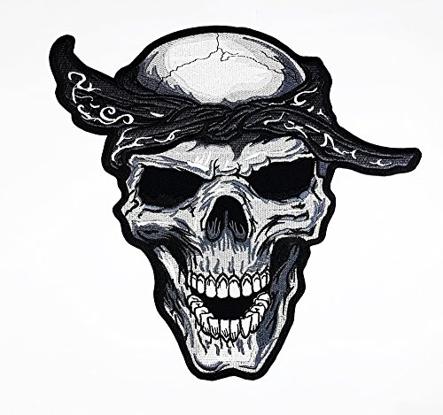 reat Skull Rider Biker Motorrad Patch Sew Iron on gesticktes Badge Schild Kostüm (Biker Kostüme)
