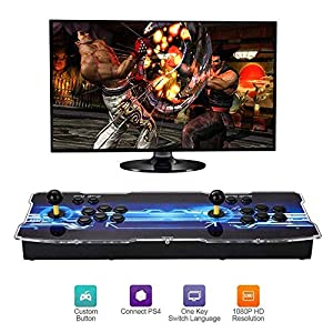 ZQYR GAME# Home Arcade Konsole, Doppelstock 1080P Retro-Videospiele Doppelstock-Arcade-Konsole, 2200 Klassische Spiele in 1 Arcade,GHD-695