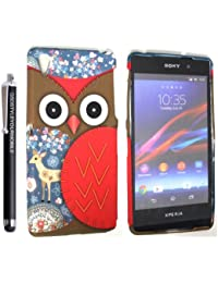 Kmal star® FOR SONY XPERIA Z2 VARIOUS DESIGN SILICONE SILIKON CASE SKIN GEL TPU TASCHE Hülle COVER + STYLUS BY GSDSTYLEYOURMOBILE {TM} (OWL FACE AND DEER SILICONE)