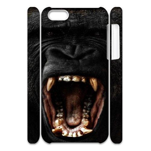 Custom New Case for Iphone 5C 3D, Black Gorilla Phone Case - HL-704575