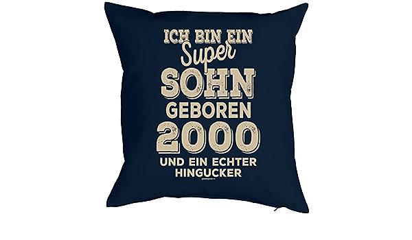 Geburtstag Geschenkidee Kissen mit F/üllung Einzelst/ück Original seit 2002 Polster zum 18 Geburtstag f/ür 18-j/ähirge Dekokissen Mega-Shirt zum 18