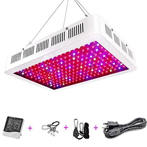 YLOVOW Indoor LED Grow Light, 200W-1500 Watt Vollspektrum-Pflanzenlicht mit Schalter, IR-UV-Lampen für das Wachstum von Gewächshaus-Wasserkultur-Sämlingen mit Gemüse und Blumen,1200W