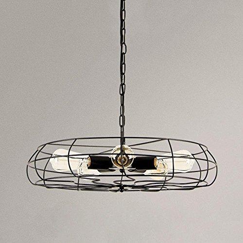 GBYZHMH Amerikanische Loft Retro Creative Industrial Wind Led Lüfter Kronleuchter Restaurant Lüfter leuchten Wohnzimmer Lampen Beleuchtung 5 Köpfe, Schwarz Dekoration Lampen (Badezimmer-ventilator-lichtschalter)