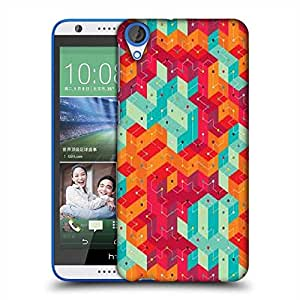 Snoogg Cool colourful lines Designer Protective Back Case Cover For HTC Desire 820