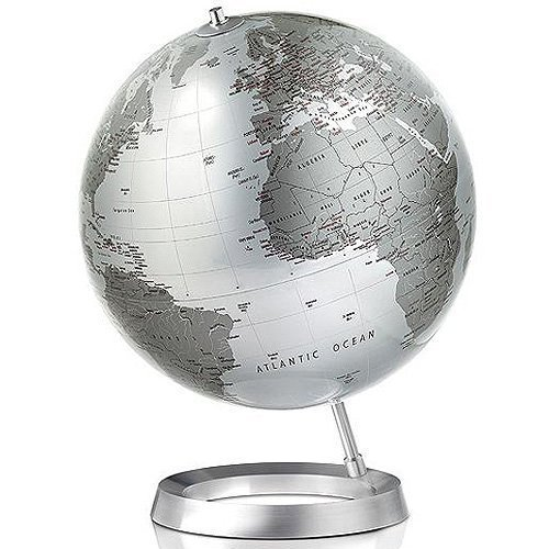New World Full Circle Vision Silber Design Globus