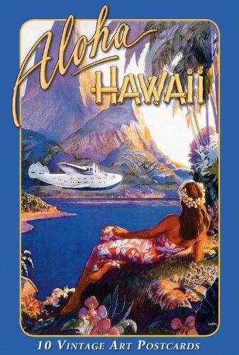 Vintage Hawaii, 10 Postkarten in Box - Vintage Art -