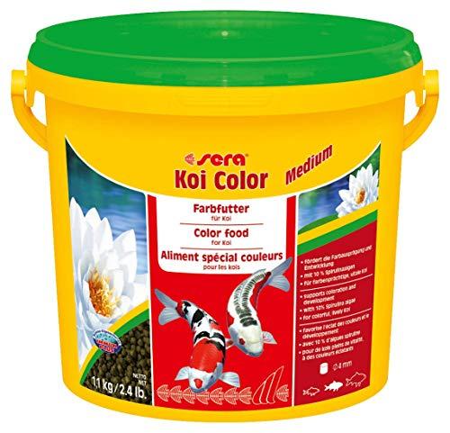 sera 07021 Koi Color Medium 3,8 Liter (4 mm) das Farbfutter für farbenprächtige, vitale Koi zwischen 12 und 25 cm