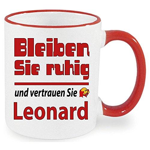 XXL Becher + Fussballtasse Leonard bleibt ruhig. Siehe auch Produktbild 2.