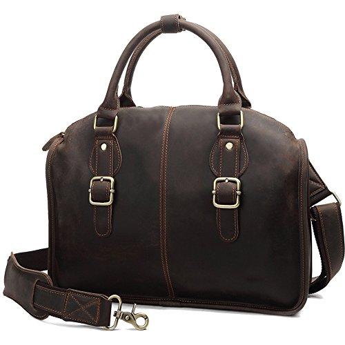 Ybriefbag Schultertasche Vintage Style Leder Business Aktentasche 13