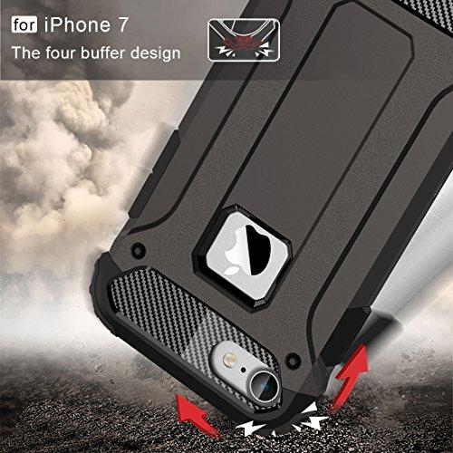 GHC Cases & Covers, Für iPhone 7 Tough Armor TPU + PC Kombi-Fall, Kleine Menge Empfohlen vor iPhone 7 Starten ( Color : Blue ) Coffee