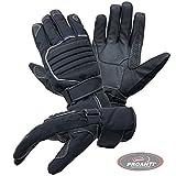 Motorradhandschuhe PROANTI Regen Winter Motorrad Handschuhe (Gr. L, schwarz)