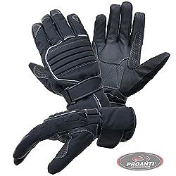Motorradhandschuhe PROANTI® Regen Winter Motorrad Handschuhe (Gr. XS-XXXL, schwarz)