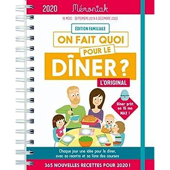 On fait quoi pour le dîner ? Mémoniak 2019-2020