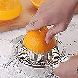 Gaddrt Spremiagrumi Al Limone Con Contenitore Per Scodelle -Stainless Steel- Spremiagrumi Creativo In Cucina-Home Made Juice