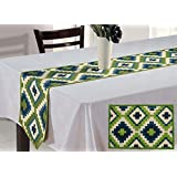 ShalinIndia Home Decorations For The 4 Seater Dining Table Set Of A Runner And 4 Placemats In Cotton Fabric And Vibrant Color