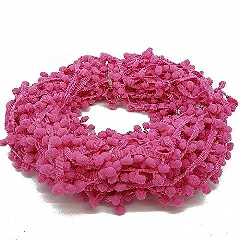 Accessories Attic Bommelborte, 10 mm, Handarbeiten, Nähen, pro Meter, baumwolle, hot pink, Approx (Hot Pink Thread)