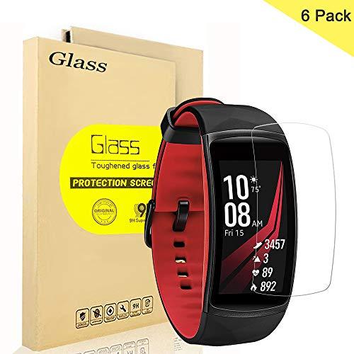 AOLANDER [6 Stück Samsung Gear Fit 2 Pro TPU Schutzfolie [volle Abdeckung] HD Bildschirmschutzfolie Folie klarung[wasserabweisend schmutzabweisend] HD Bildschirmschutzfolie Folie klar