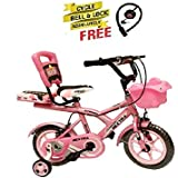 Speed Bird 12-T Robust Double Seat Biycles Baby Cycle For Boy & Girl Age Grope 2-5 Years (Baby Pink)