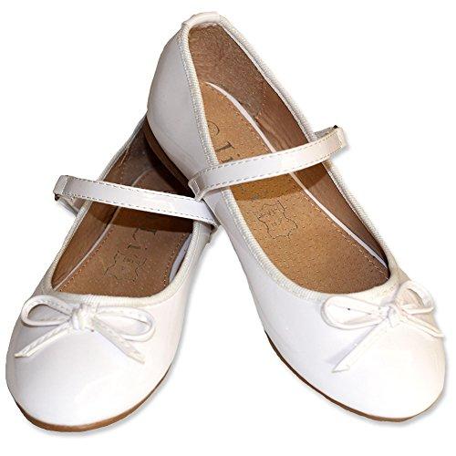 Jili Ballerina mit Riemchen weiß (33, Weiss) fällt klein aus