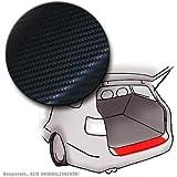 Daylight pour ford fiesta (7ème génération)-carbone-noir-lackschutzfolie 140µm de protection de seuil de coffre pour butée de chargement en fibre de verre aspect carbone noir 140µm