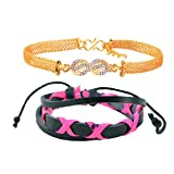Diovanni Pink eX'ed Out Combo Bracelet O...