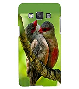 ColourCraft Love Birds Design Back Case Cover for SAMSUNG GALAXY E5