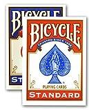 10-2-nuovi-mazzi-di-carte-e-sigillato-in-bicicletta-gioco-1-rosso-e-1-blu-2-new-sealed-decks-of-bicy