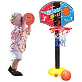 TOBA021 Junior Basketball Hoop And Stand Ball Pump Set Indoor Outdoor Fun Toys Activities Boy Kids For 3 years older Christmas Gift (3 years)