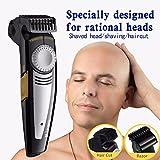 Haarschneider Kahler Haar Rasierer Haarspange Wiederaufladbar 9 Längenkamm Spezielles Design für Glatze und Gesicht Schädel Rasur