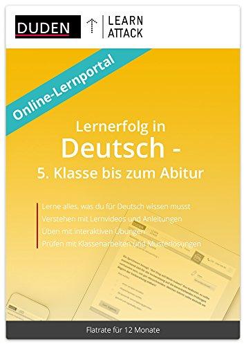 Duden Learnattack - Lernerfolg in Deutsch - 5. Klasse bis zum Abitur (12 Monate Flatrate)