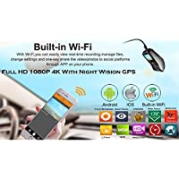Full HD 1080P 60Fps Cámara de salpicadero de Coche con GPS WiFi G-Sensor visión