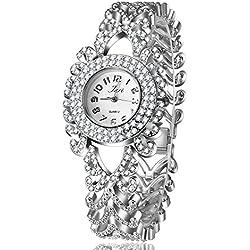 Frau, Quarz-Uhr, Mode, Persönlichkeit, Freizeit, Muster, Metall, W0354