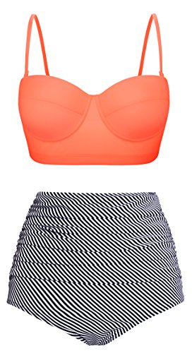 EasyMy Vintage Con Lunares Trajes de Baño Alta Cintura Bikini