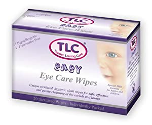 TLC Lid Hygiene Wipes TRIPLE PACK 3 x 20 wipes - Baby