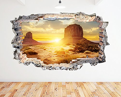 n595-desert-sand-mountains-sunset-smashed-wall-decal-3d-art-stickers-vinyl-roommedium-52x30cm
