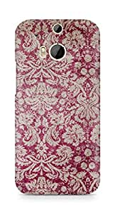 Amez designer printed 3d premium high quality back case cover for HTC One M8 (Red victorian )