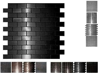 1 QM Edelstahl Mosaik Blackstar Brick von Mosaikdiscount24 GmbH auf TapetenShop