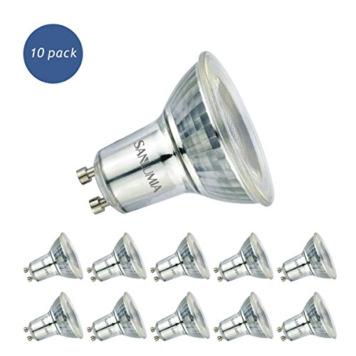 Sanlumia Bombillas LED GU10, 6W = 75W Halógena, 500Lm, Blanco Frío (6400K),...