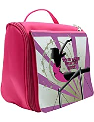41f948d9569d Personalised Girls Gymnastics St453 Pink Hanging Wash Bag   Toiletry Travel    Make Up Cosmetic Shower
