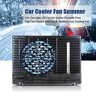 D.ragon Portable Air Cooler Mini Mobile Klimaanlage Luftkühler, 12V Autolüfter Luftkühler, Fluorfreier Hoch- Und Niedriggang-Mehrzweck-Windlüfter Car Fan Air Cooler