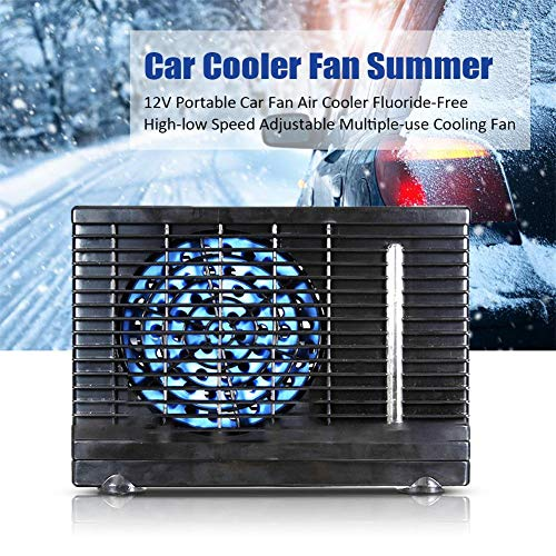 Preisvergleich Produktbild D.ragon Portable Air Cooler Mini Mobile Klimaanlage Luftkühler,  12V Autolüfter Luftkühler,  Fluorfreier Hoch- Und Niedriggang-Mehrzweck-Windlüfter Car Fan Air Cooler