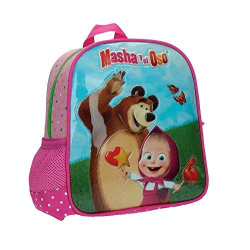 Masha y el Oso In The Wood Mochila Infantil, 5.75 Litros, Color Rosa