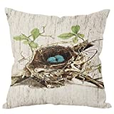 Clearance Sale ❤️ Pillow Case, Xinantime Bird's Nest Vintage Cushion Cover Pillow Covers (45 * 45cm, Gray)