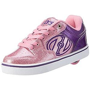 Heelys Motion Plus, Scarpe da Ginnastica Bambina, Viola (Purple / Pink Glitter), 34 EU