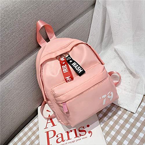 Kinder Tasche, Rucksack Einfache Mini Rucksack Jungen Und Mädchen Studenten Paket Süße Cartoon Baby Eltern-Kind-Rucksack, Unisex rosa -