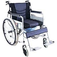 Silla de ruedas Plegable con Inodoro Portátil, discapacitado, Carro Viejo