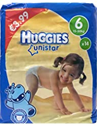 Huggies Unistar, 14couches, Taille 6(15–30kg)