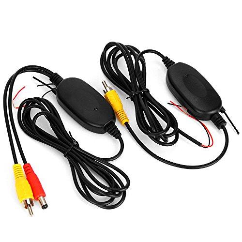 SODIAL NOUVEAU Transmetteur et Recepteur video en couleur sans fil 2.4G pour l'Appareil photo de voiture de Camera de recul avant de vehicule