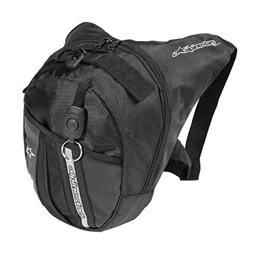 Trendyest Bolsa de Cintura Impermeable Impermeable, Cintura Baja, Pierna, Bolsa Al Aire Libre, Motocicleta, Equitación, Mochila (Negro, A